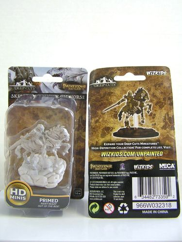 WZK73359 - Pathfinder Deep Cuts Wave 5 - Unpainted Miniatures - Skeleton Knight On Horse