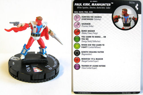 Heroclix - #003a Paul Kirk Manhunter - Harley Quinn and the Gotham Girls