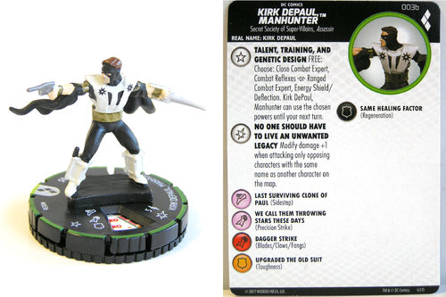 Heroclix - #003b Kirk DePaul Manhunter - Harley Quinn and the Gotham Girls