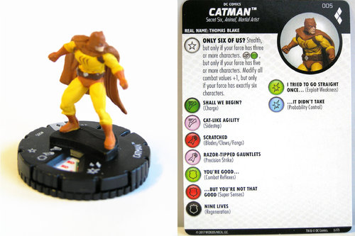 Heroclix - #005 Catman - Harley Quinn and the Gotham Girls