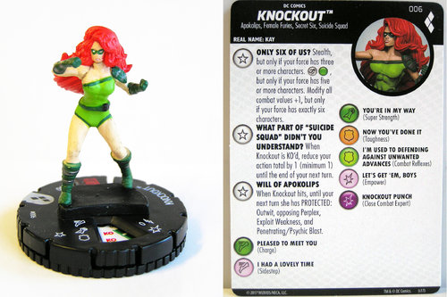 Heroclix - #006 Knockout - Harley Quinn and the Gotham Girls
