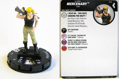 Heroclix - #012 Mercenary - Harley Quinn and the Gotham Girls