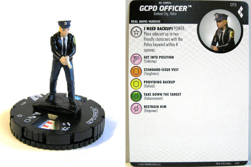 Heroclix - #013 GCPD Officer - Harley Quinn and the Gotham Girls