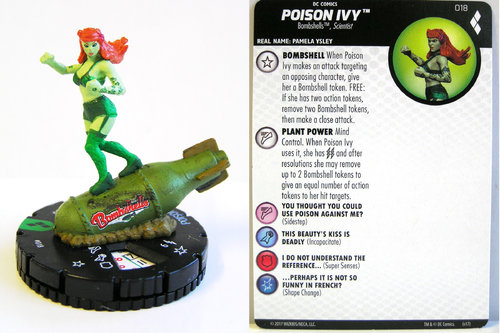 Heroclix - #018 Poison Ivy - Harley Quinn and the Gotham Girls