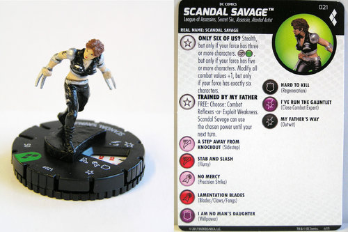 Heroclix - #021 Scandal Savage - Harley Quinn and the Gotham Girls