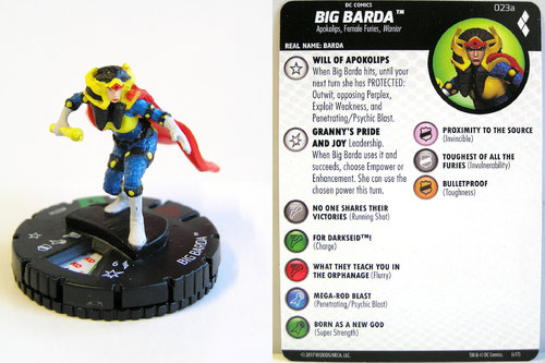 Heroclix - #023a Big Barda - Harley Quinn and the Gotham Girls
