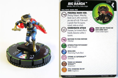 Heroclix - #023b Big Barda - Harley Quinn and the Gotham Girls