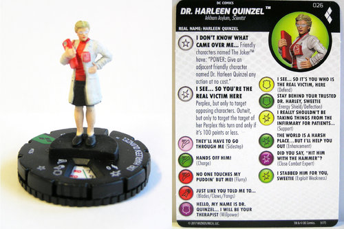 Heroclix - #026 Doctor Harleen Quinzel - Harley Quinn and the Gotham Girls
