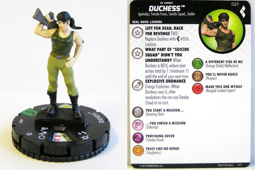 Heroclix - #027 Duchess - Harley Quinn and the Gotham Girls
