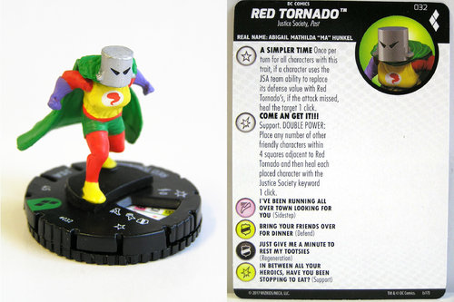 Heroclix - #032 Red Tornado - Harley Quinn and the Gotham Girls