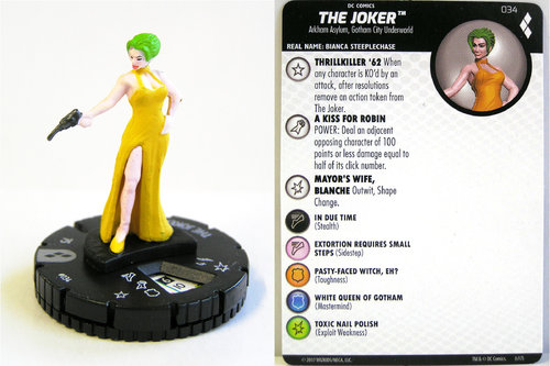 Heroclix - #034 The Joker - Harley Quinn and the Gotham Girls