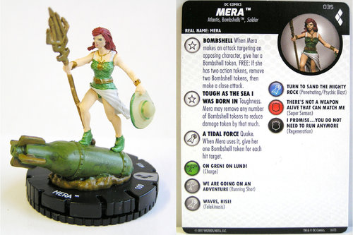 Heroclix - #035 Mera - Harley Quinn and the Gotham Girls