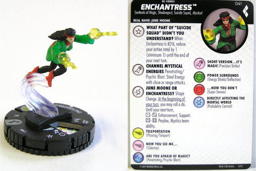Heroclix - #041 Enchantress - Harley Quinn and the Gotham Girls