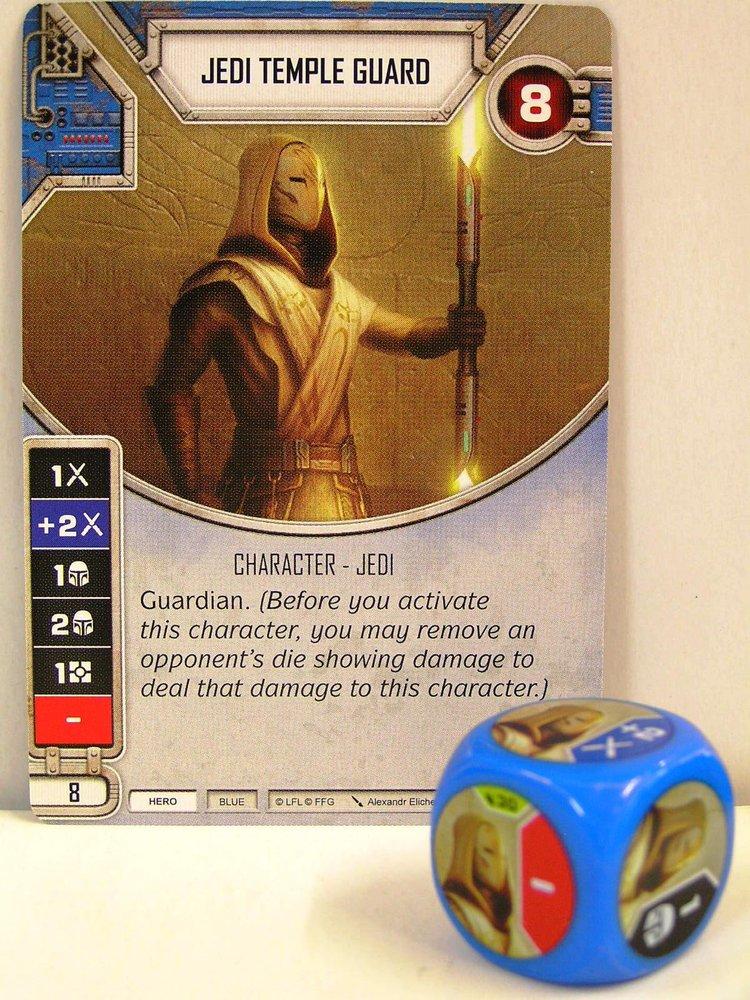 Star Wars Destiny - #030 Jedi Temple Guard + Die - blue - Legacies