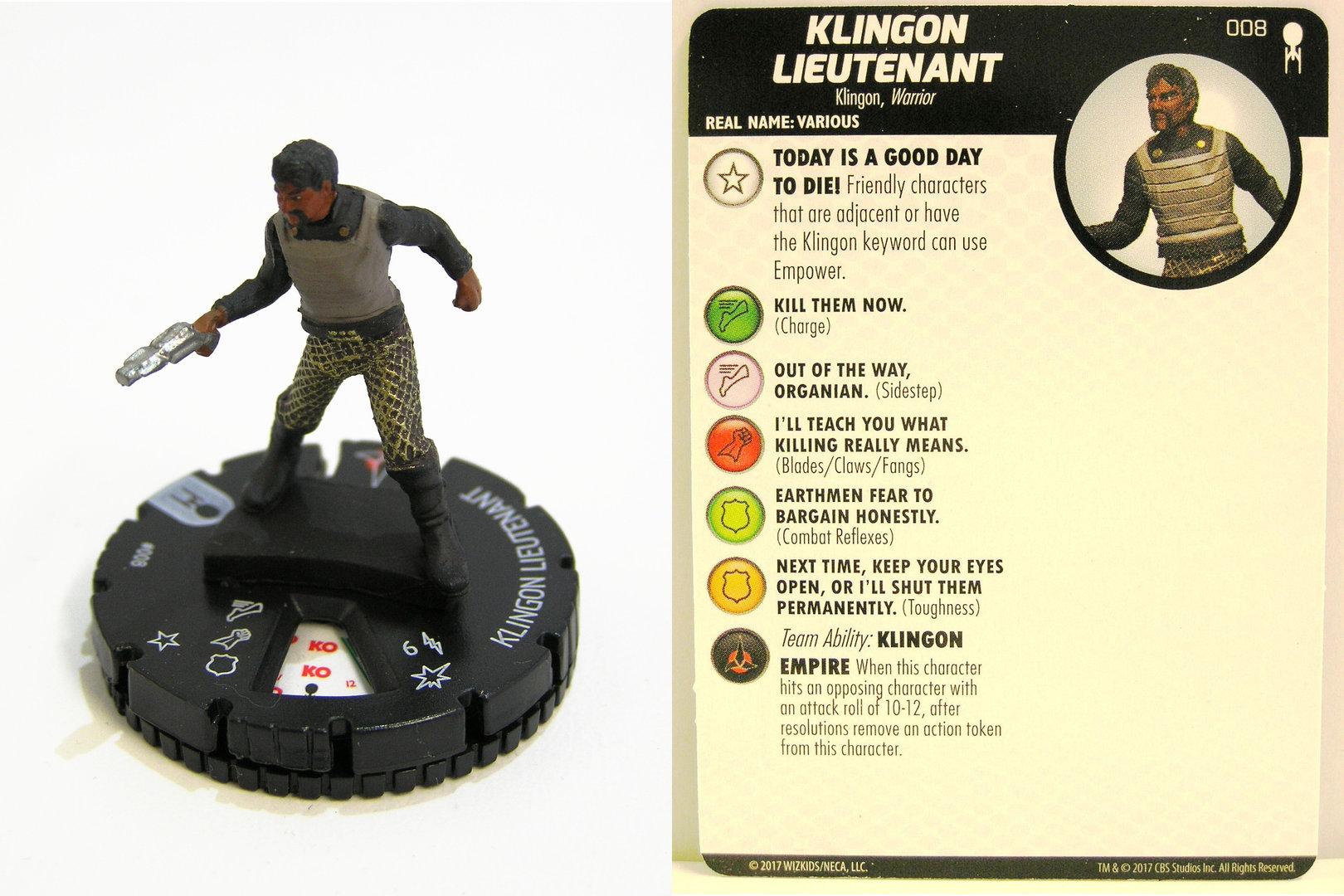 #002 Klingon Bekk Heroclix Star Trek Away Team The Original Series