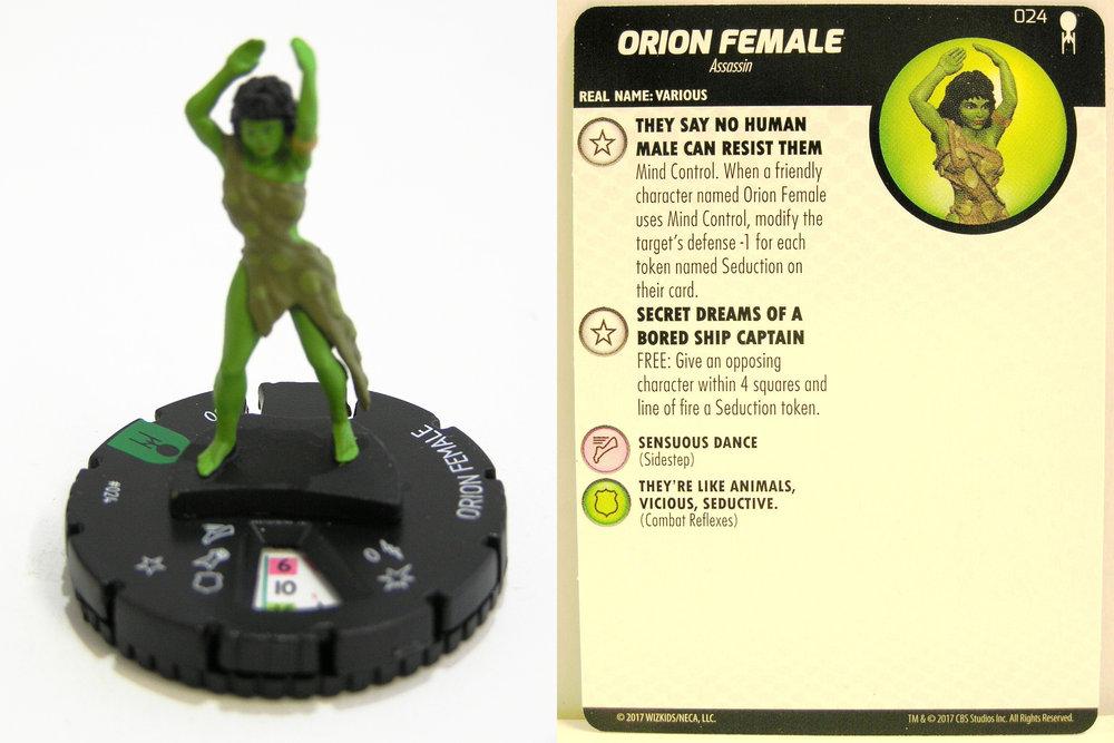 Weihnachtskalender Orion.Heroclix 024 Orion Female Star Trek Away Team The Original Series