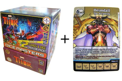 Dice Masters The Mighty Thor Gravity Feed Display + Promo Card