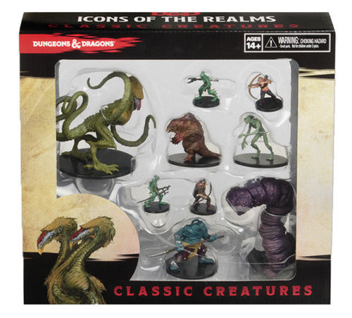 Dungeons&Dragons Icons of the Realms Classic Creatures Box Set + Incentive Figure Demogorgon