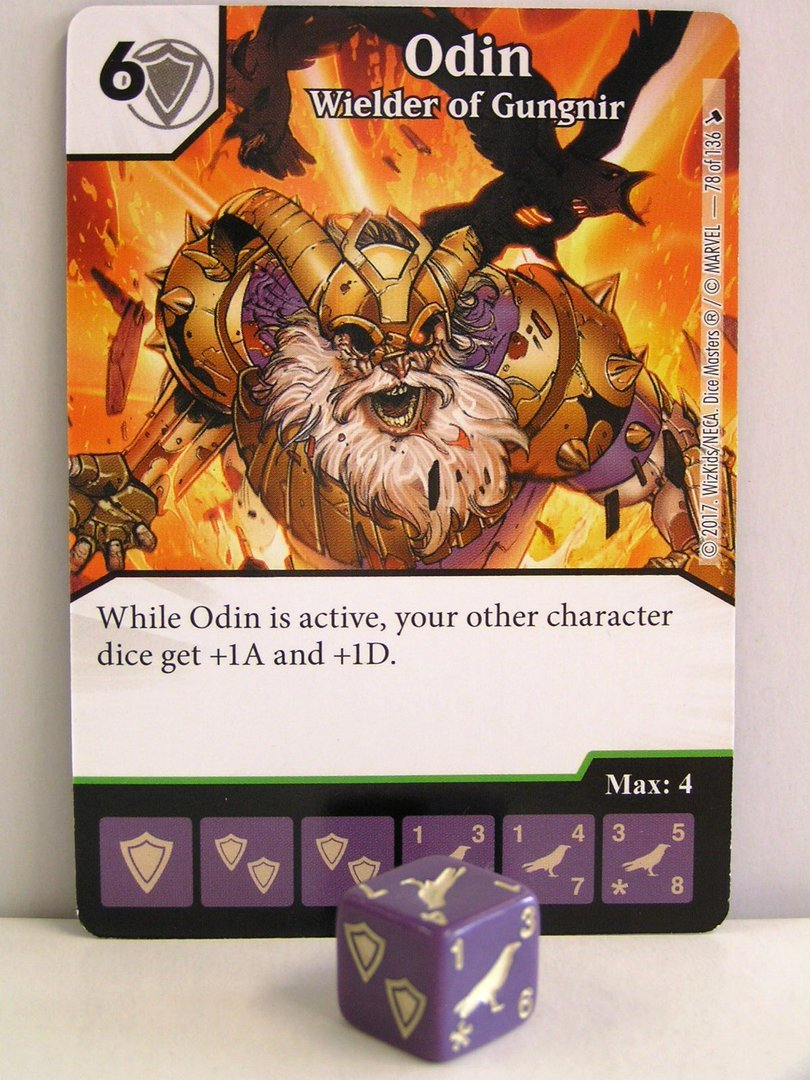 Dice Masters 078 Odin Wielder Of Gungnir The Mighty