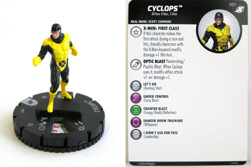 Heroclix - #001 Cyclops - X-Men Xavier's School
