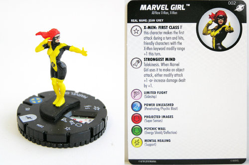 Heroclix - #002 Marvel Girl - X-Men Xavier's School
