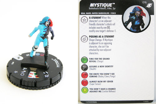 Heroclix - #016 Mystique - X-Men Xavier's School
