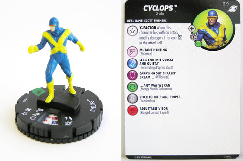 Heroclix - #019 Cyclops - X-Men Xavier's School