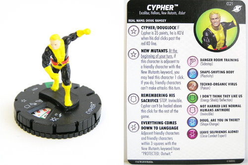 Heroclix - #021 Cypher - X-Men Xavier's School