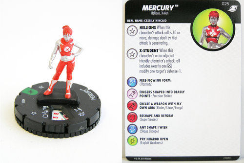 Heroclix - #025 Mercury - X-Men Xavier's School