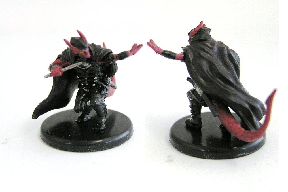 D&D - #035b Tiefling Rogue (Black Cape) - Monster Menagerie 3