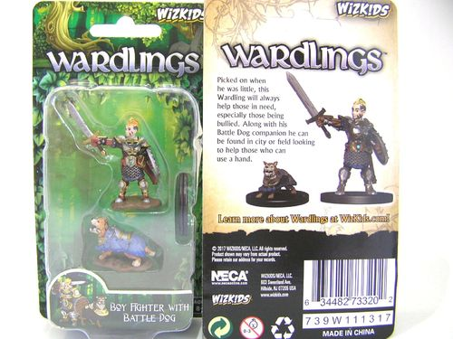 WZK73320 - Wizkids Wardlings Wave 1 - Boy Fighter & Battle Dog