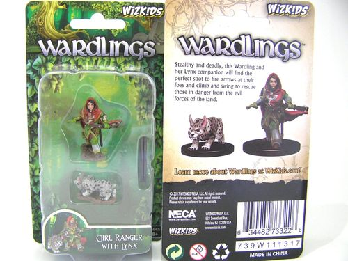 WZK73322 - Wizkids Wardlings Wave 1 - Girl Ranger & Lynx