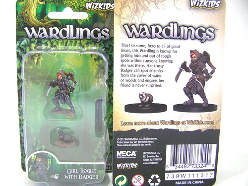 WZK73324 - Wizkids Wardlings Wave 1 - Girl Rogue & Badger
