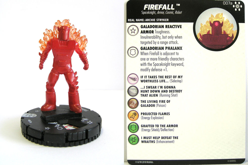 007a Marvel Avengers Infinity HeroClix Miniature Common Firefall