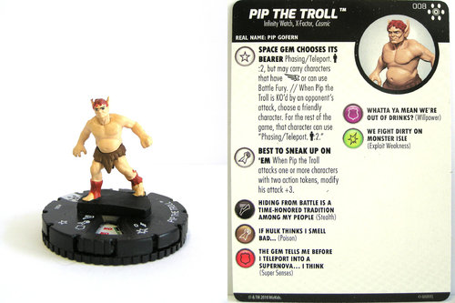 Heroclix - #008 Pip the Troll - Avengers Infinity