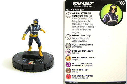 Heroclix - #021 Star-Lord - Avengers Infinity