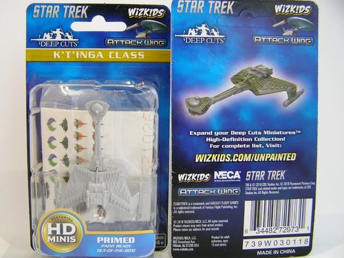 WZK72973 - Star Trek Attack Wing - K'T'Inga Class - Deep Cuts Unpainted Miniatures
