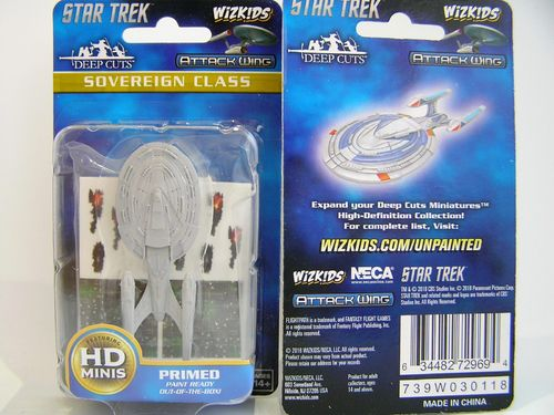 WZK72969 - Star Trek Attack Wing - Sovereign Class - Deep Cuts Unpainted Miniatures