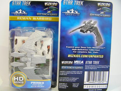 WZK72974 - Star Trek Attack Wing - Reman Warbird - Deep Cuts Unpainted Miniatures