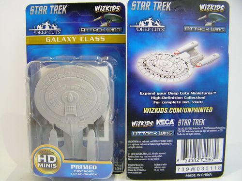 WZK72967 - Star Trek Attack Wing - Galaxy Class - Deep Cuts Unpainted Miniatures