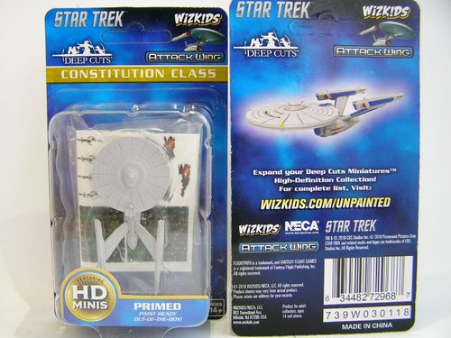 WZK72968 - Star Trek Attack Wing - Constitution Class - Deep Cuts Unpainted Miniatures