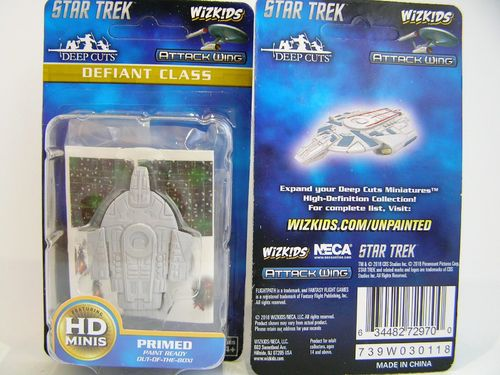 WZK72970 - Star Trek Attack Wing - Defiant Class - Deep Cuts Unpainted Miniatures