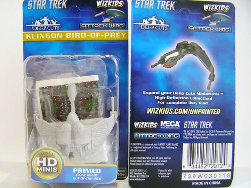 WZK72972 - Star Trek Attack Wing - Klingon Bird-of-Prey - Deep Cuts Unpainted Miniatures