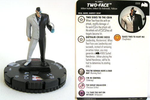 Heroclix - #008 Two-Face - DC Batman the Animated Series