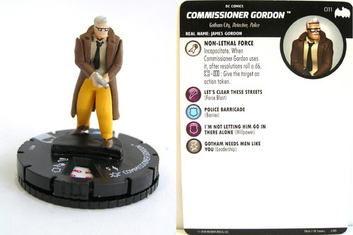 Heroclix - #011 Commisioner Gordon - DC Batman the Animated Series