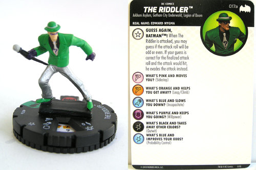 Heroclix - #017a Riddler - DC Batman the Animated Series