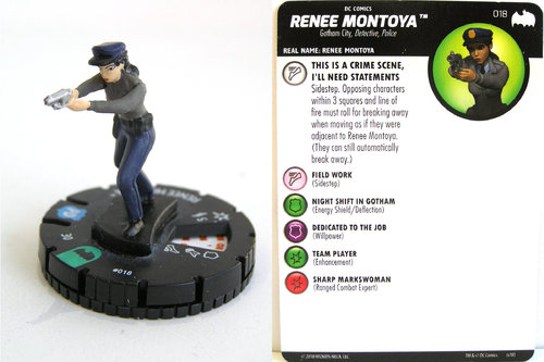 Heroclix - #018 Renee Montoya - DC Batman the Animated Series