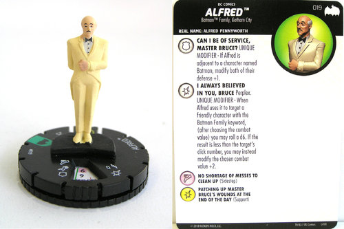 Heroclix - #019 Alfred - DC Batman the Animated Series