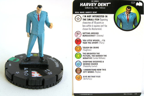 Heroclix - #021 Harvey Dent - DC Batman the Animated Series