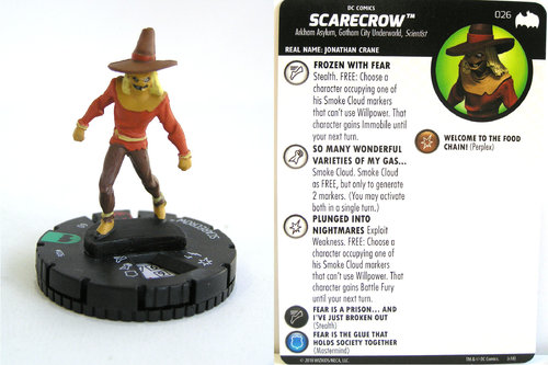 Heroclix - #026 Scarecrow - DC Batman the Animated Series